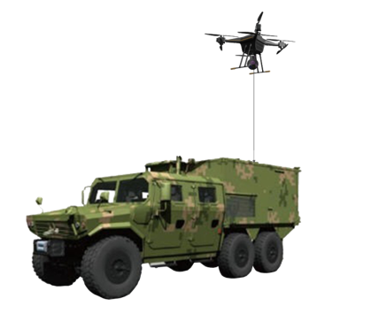 Vehicle Tethered Drone System